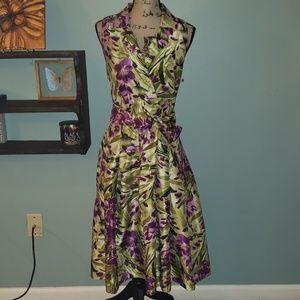 Jessica Howard Sleeveless Tea Length Floral Dress